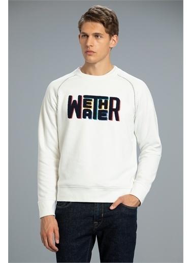 Lufian Mounth Sweatshirt   Beyaz